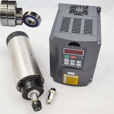 1.5KW ER11 4 Bearing Air-cooled Spindle Motor+Inverter Frequency Drive VFD CNC