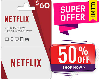 Netflix Gift Code $60 | 40% OFF | LIMITED QUANTITY | Email Delivery
