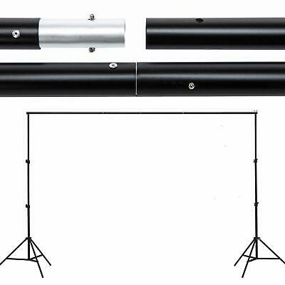 Background Support 10ft Photography Backdrop Crossbar Stand Photo Kit Adjustable