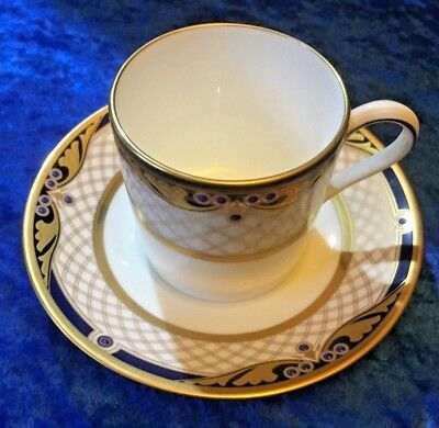 """""""NORITAKE"""" Cup and Saucer number 9797 Gold Cobalt Blue White. Very good con."""