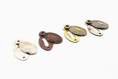 Antique Oval Beehive Design Door Lock Keyhole Escutcheon Various Finishes
