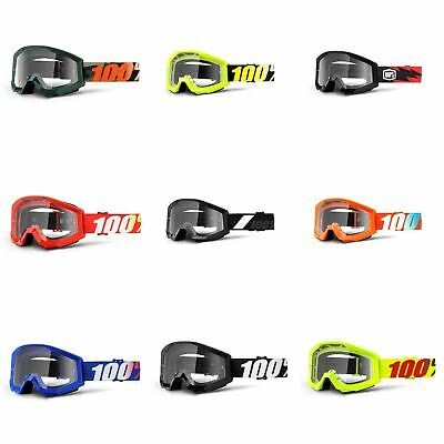 100% Strata MX Goggles w/Clear Lens Motocross Off-Road Enduro