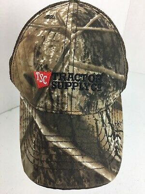c79eef3344d TSC Trucker Hat Baseball Cap Tractor Supply Co Camo Realtree Strapback H12M
