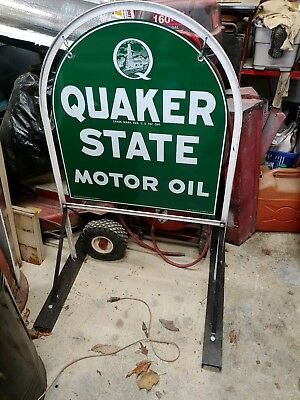 Quakerstate Sign & Stand
