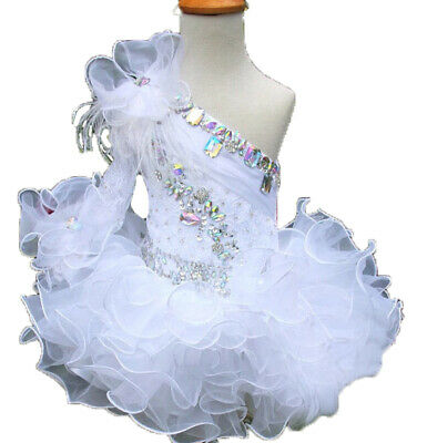 Infant//toddler//baby Royal Lace Crystals//rhinestone Pageant Glitz Dress G015RR