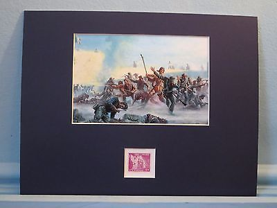 Congressman Davy Crockett defends the Alamo honored by the Alamo stamp