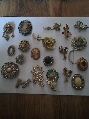 Vintage /antique Brooch Lot For Spares /repair