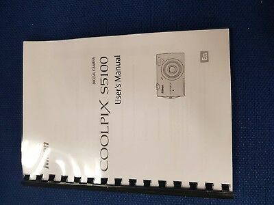 Nikon Coolpix S5100 Fully Printed Instruction Manual User Guide 180 Pages (A5)