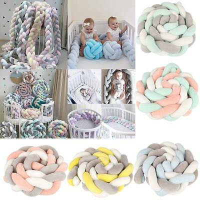 Infant Baby Plush Crib Bed Bumper Bedding Cot Braid Pillow Pad Safety Protector