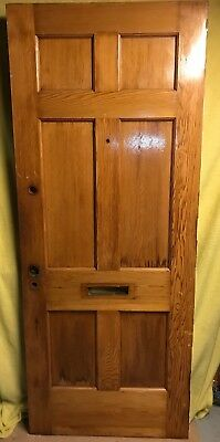 Unique Antique 6 Panel Wood Exterior Entry Door 32x80