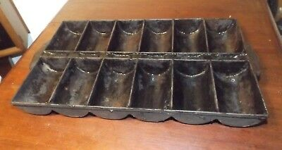 Vintage Antique Cast Iron French Roll Cornbread, Muffin Pan No Visual Markings