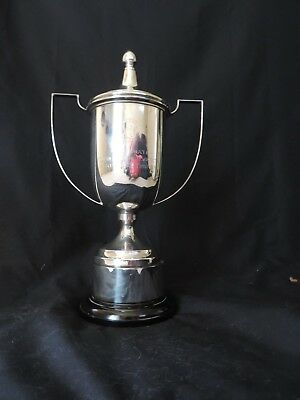 Vintage Silver Plated Classic Loving Cup Trophy with Lid