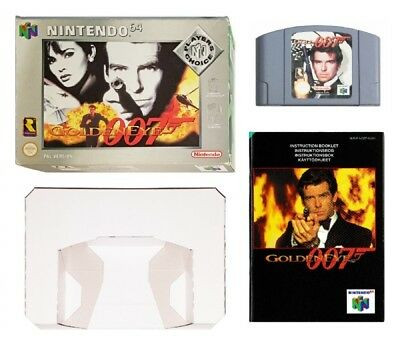 007 GOLDENEYE (PLAYER'S CHOICE) (BOXED WITH MANUAL) (PAL N64 Game) James Bond B