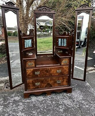 Antique Victorian Dressing Table/ Chest Of Drawers (can help arrange Delivery)