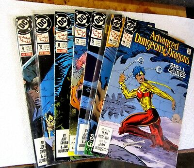 Lot of 7 Advanced Dungeons and Dragons #9, 10, 11, 12, 13, 14, 15.  Comics