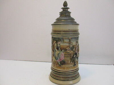 "Antique Marzi&Remy .5l Stein  240 ""Hunters with a fox"""