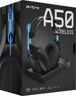 ASTRO Gaming A50 Wireless Dolby Gaming Headset (Black/Blue) PS4 + PC - UD
