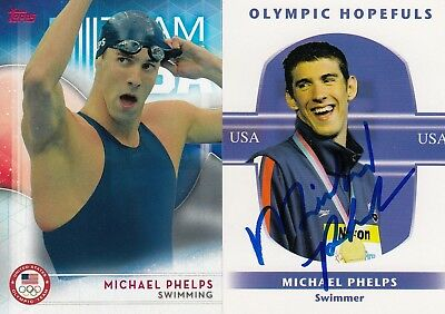 Michael Phelps 2016 Topps Olympic Gold Medal Swimmer Card With An Extra