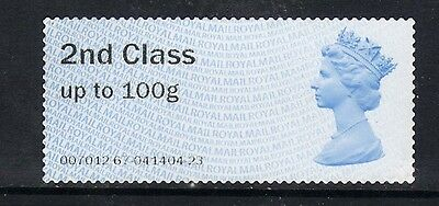 GB 2014 QE2 2nd Class up to 100 gms  Post & Go Unused no gum ( K317 )