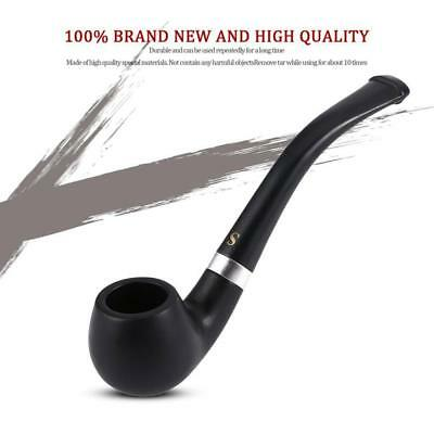 Black Smoking Pipe Durable Tobacco Vintage Wooden Pipes Cigar Cigarette Gift *