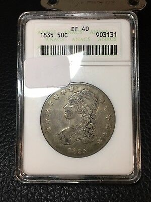 1835 Capped Bust Half Dollar ANACS XF40 - Great Detail