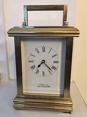 A Working 1/4 Repeater Carriage Clock * L Reich & Sons * Royal Tumbridge Wells