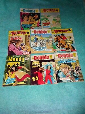 BUNTY/JUDY/DEBBIE/MANDY PICTURE STORY LIBRARY BOOKS x 8 from 1970's and 1980's