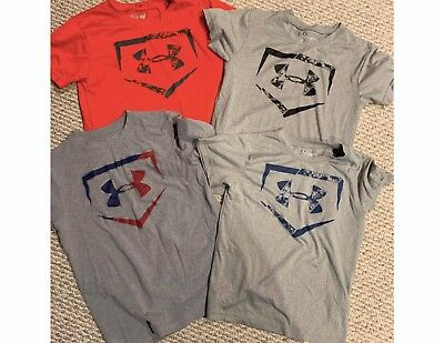 LOT UNDER ARMOUR T Shirts Tops Boys Small size 7 Heat Gear
