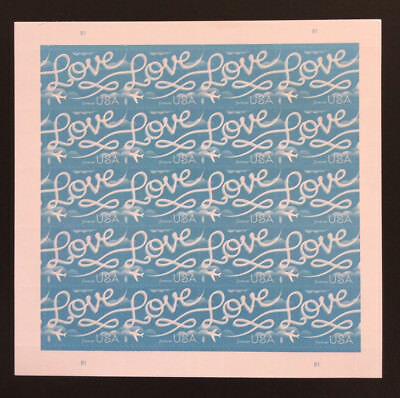 USPS - LOVE - SKYWRITING- #5155 FOREVER Sheet MNH - 20 STAMPS - 2017 - FREE SHIP