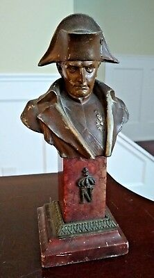 Antique Napoleon Bust - FRANCE - Rouge Marble Base - 19th Century