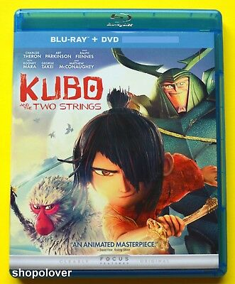 Kubo and the Two Strings (Blu-ray/DVD, 2016 2-Disc Set) NO DIGITAL CODE Like New
