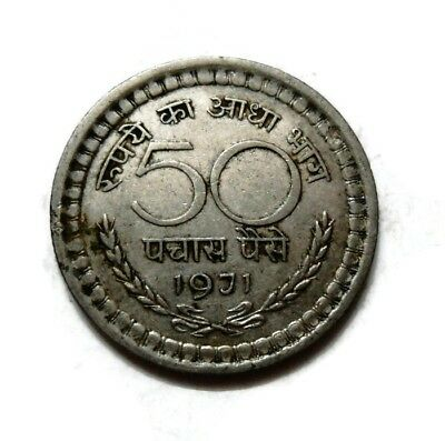 Republic India - 50 Paise - (1971 ) - Rare Coin