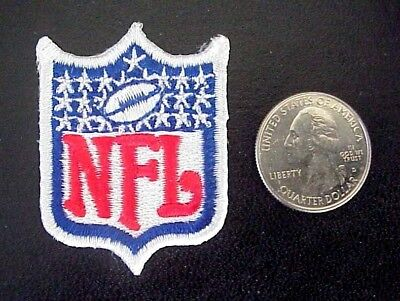 """NFL FOOTBALL  2""""  x 1 3/8""""  EMBROIDERED IRON-ON SHIELD LOGO PATCH"""