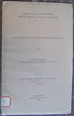 "Old Original Indian Book ""ANTIQUITY OF RED RACE IN AMERICA"" Circa 1897 Very Rare"