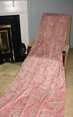 Vintage Parasol Pink Natural Abstract Fabric Textiles Rayon/Silk 7 yds 45""