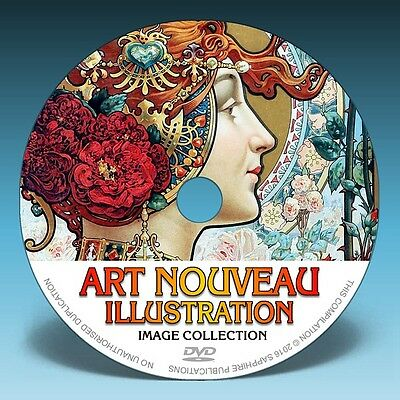 ART NOUVEAU ILLUSTRATION - 100s of Paintings & Drawings on DVD!