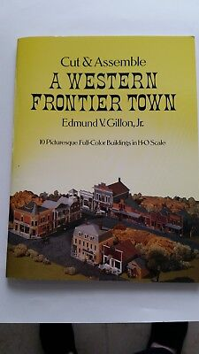 Cut& Assemble a Western Frontier Town, Gillon, 10 Buildings in H-O scale 1979