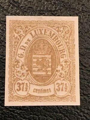 Luxembourg 1859 37.5c ,Brown  Imperf, ,MNH forgery stamp HV