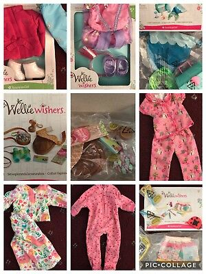 Lot of 8 American Girl Wellie Wishers Sets ~ Princess, Figure Skating, Pajamas +