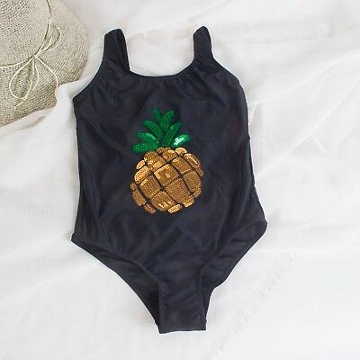 Children Swimwear Sequin Pineapple One Piece Swimsuit Girls Pool Bath Swim Wear
