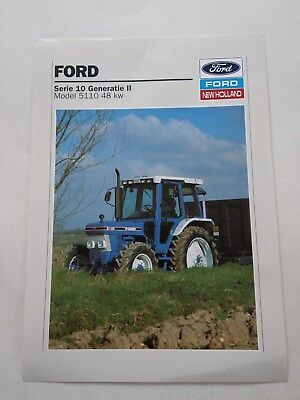 Ford 5110 tractor brochure  New Holland Dutch from Holland