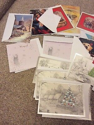 job lot of christmas cards