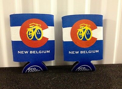 New Belgium Brewery's Beer Koozies Featuring Colorado State Flag - Never Used!