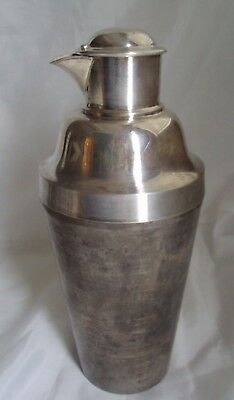 Antique Silver Plated Cocktail Shaker Stamped Cross  London 46