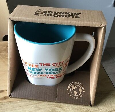 Dunkin Donuts New York Destinations Mug/coffee Cup, New In Box, 2017