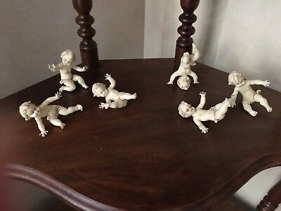 Vintage Tumbling Cherubs Set of 5