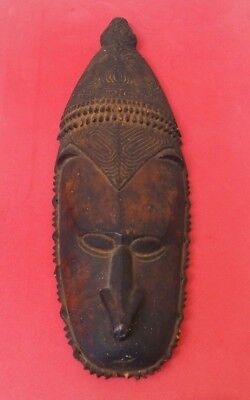 Large South Pacific Oceanic Polynesian Papua New Guinea Carved Wooden Face Mask