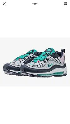 d5c6058690 Nike Air Max 98 South Beach Tidal Wave 640744 005 PURE PLATINUM/OBSIDIAN  Size 12
