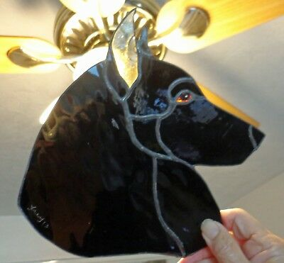 Stained Glass - Dog - Belgian Sheepdog