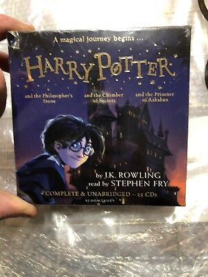 Harry Potter Books Audio Collection J K Rowling by Stephen Fry 25 CDs